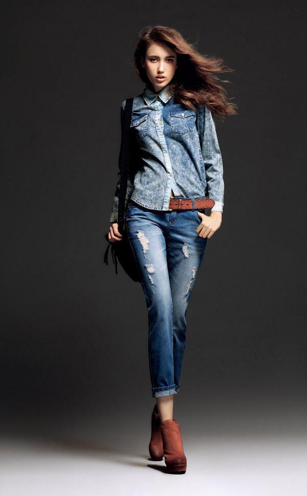 Mặc jeans sành điệu mùa đông - 7
