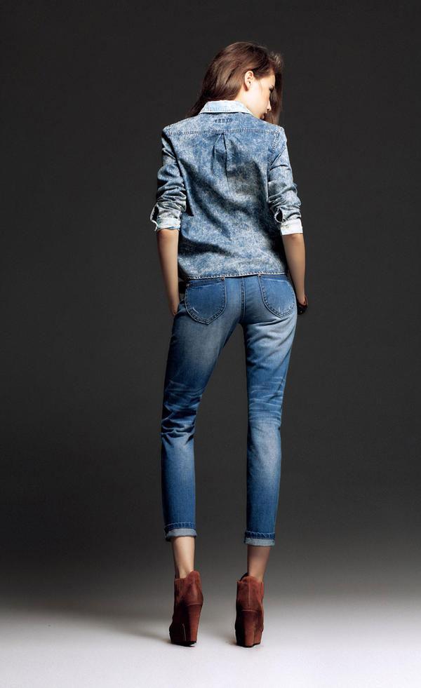 Mặc jeans sành điệu mùa đông - 5