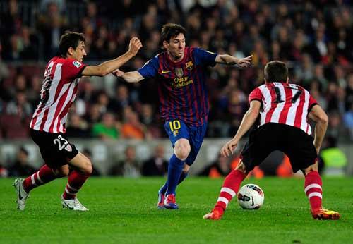 Barca - Bilbao: Tiếc cho Messi - 1