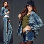 Thời trang - Mặc jeans sành điệu mùa đông