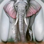 Phi thường - kỳ quặc - Chiêm ngưỡng tranh 3D trên mẫu nude