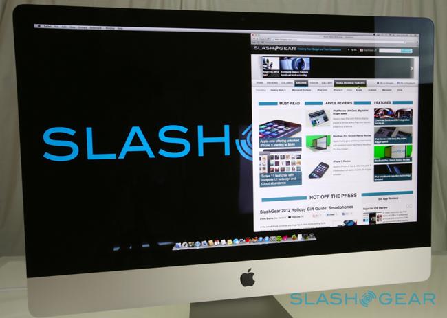 Apple iMac 2012 được trang bị màn hình 27 inch với độ phân giải 2560x1440