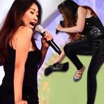 Ca nhạc - MTV - Quá sung, Đoan Trang cởi giày để hát