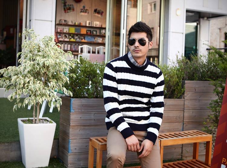 5 mẫu áo len Hàn Quốc đẹp cho chàng - 6
