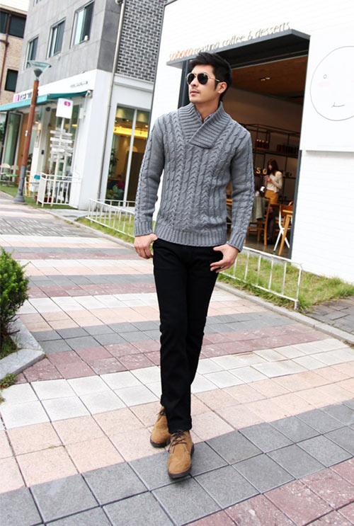 5 mẫu áo len Hàn Quốc đẹp cho chàng - 2