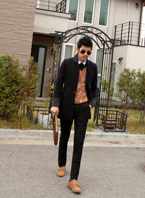 5 mẫu áo len Hàn Quốc đẹp cho chàng - 1