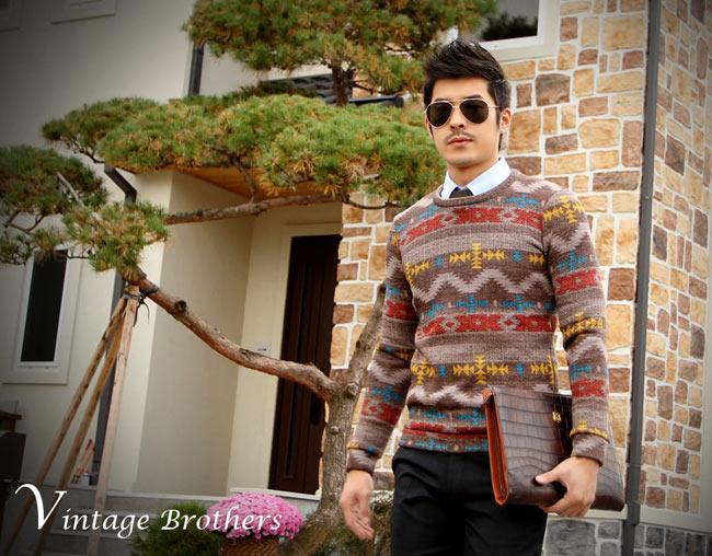 5 mẫu áo len Hàn Quốc đẹp cho chàng - 12