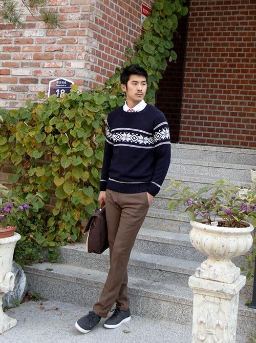 5 mẫu áo len Hàn Quốc đẹp cho chàng - 13