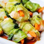 Ẩm thực - Bắp cải cuộn tôm rất ngon miệng!