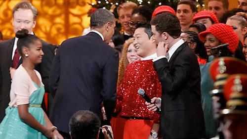 Psy nhảy ngựa trước Tổng thống Mỹ - 4
