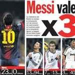 Messi bằng 3 siêu tiền đạo của Real