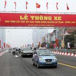 Tin tức trong ngày - Thông xe cầu vượt thép lớn nhất Hà Nội
