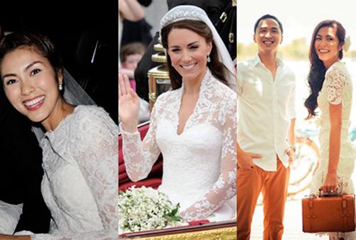 7 mẫu váy cưới đẹp nhất của cô dâu Việt - 1