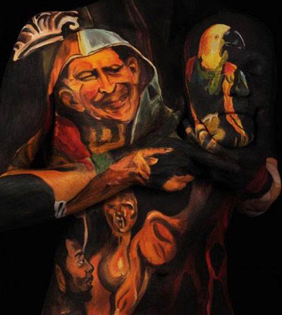 Kiệt tác cổ xưa hiện trên cơ thể sống - 2