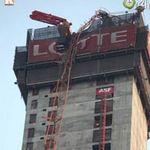 Tin tức trong ngày - Hà Nội: Gãy cần cẩu ở tòa nhà 70 tầng