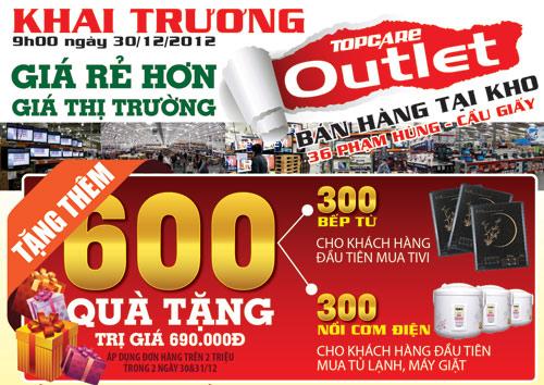 Khai trương Topcare Outlet - Bán hàng giá rẻ tại kho - 1