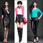 Thời trang - Mặc đồ da sành điệu đón Xuân lạnh!