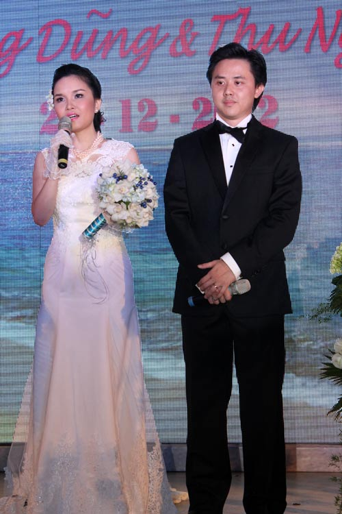Thu Ngọc (Mây Trắng) rạng rỡ ngày cưới - 4