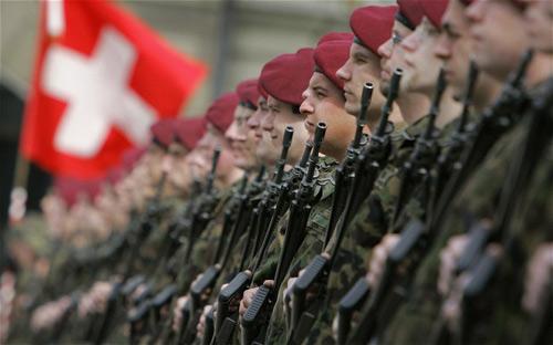 Quân đội Thụy Sĩ diễn tập chống Pháp tấn công - 1