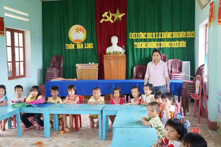 Nhiều trẻ nông thôn thất học mầm non - 1