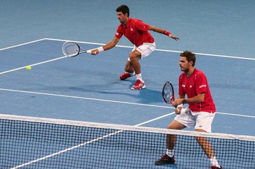 """Djokovic/Wawrinka """"song kiếm hợp bích"""" vào BK China Open - 1"""