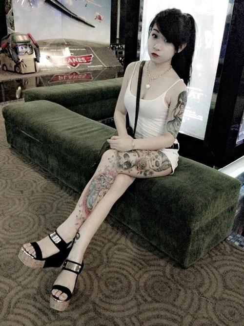 Hình xăm độc của hot girl Việt - 8