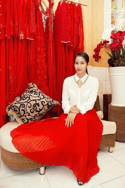 Linh Chi trẻ trung cùng váy xòe - 8