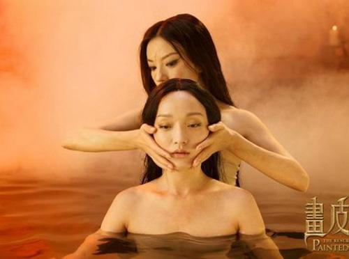 """Video: Châu Tấn """"lột da"""" tắm trần - 11"""