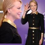 Thời trang - Nicole Kidman lộ mặt căng mọng vì botox