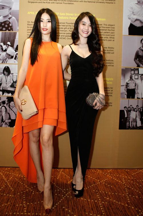 Linh Chi đọ dáng với Á hậu Minh Thư - 1