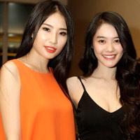 Linh Chi đọ dáng với Á hậu Minh Thư