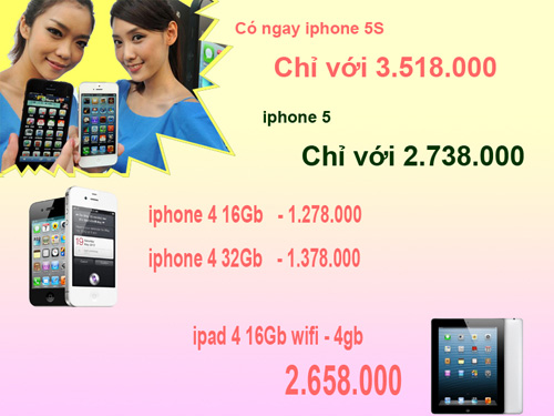 Trả góp iPhone 5S chỉ với 3.500.000VND - 1