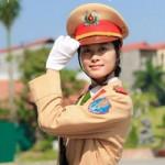 Bạn trẻ - Cuộc sống - Xinh đẹp như nữ sinh Cảnh sát giao thông