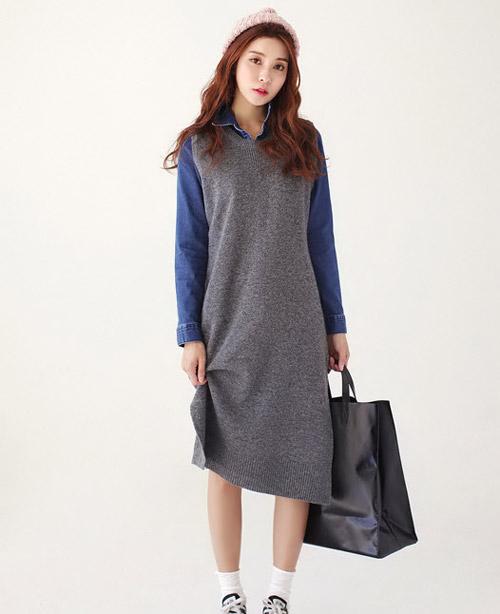 Chinh phục ánh nhìn với váy len gợi cảm - 8
