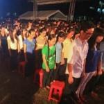 Bạn trẻ - Cuộc sống - 1.000 sinh viên TPHCM mặc niệm Đại tướng
