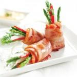 Ẩm thực - Cá hồi cuộn măng tây