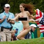 Thể thao - Thiếu nữ gây náo loạn trên sân golf