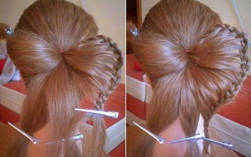 Hướng dẫn tết tóc đi tiệc dễ thương - 8