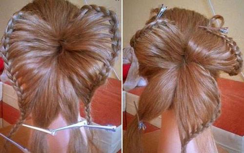 Hướng dẫn tết tóc đi tiệc dễ thương - 9