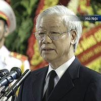 Video Tổng Bí thư Nguyễn Phú Trọng đọc điếu văn