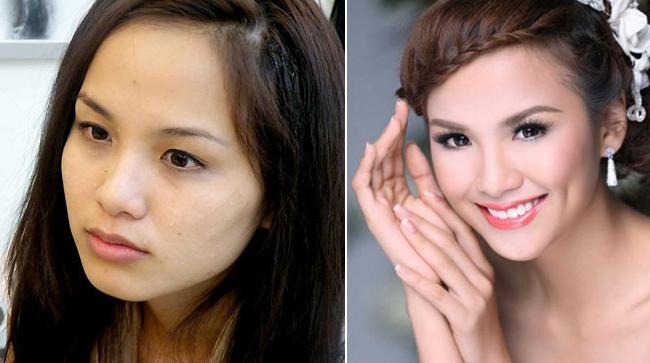 Hoa hậu Diễm Hương lộ gương mặt nhiều nốt