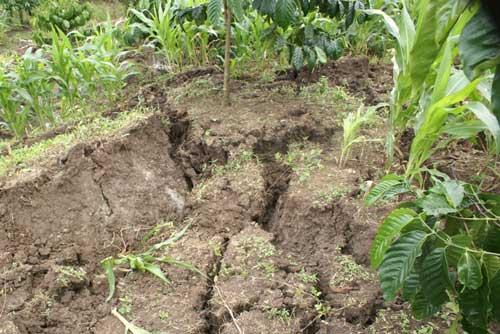 Đất nứt, xé toạc nhà dân cạnh hồ thủy điện - 5