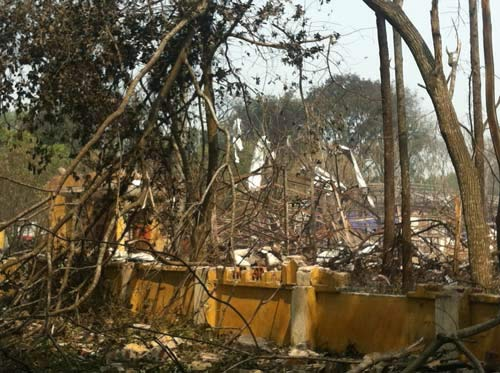 Kiểm nghiệm ô nhiễm khu vực nổ kho pháo hoa - 1