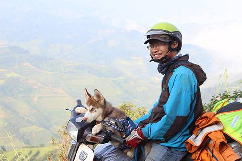 Chú chó theo chủ phượt khắp Hà Giang - 3
