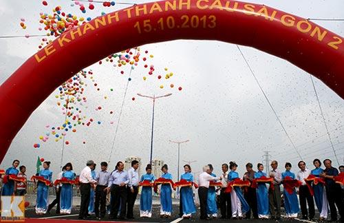 TPHCM chính thức thông xe cầu Sài Gòn 2 - 1
