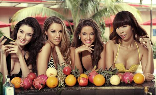 Hà Anh khoe đường cong bên Miss Global - 6