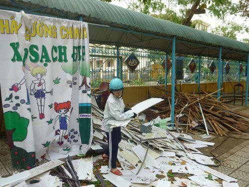 Đà Nẵng: Nhiều trường tan hoang sau bão số 11 - 11