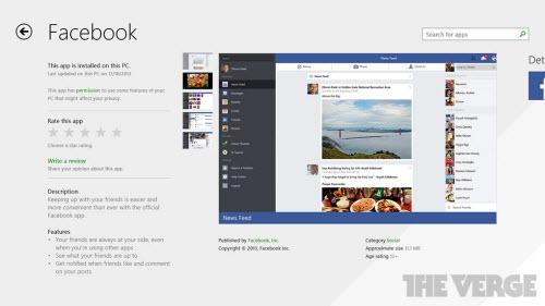 Microsoft tung ứng dụng Facebook dành cho Windows 8/8.1 - 1