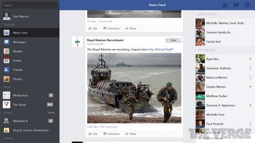 Microsoft tung ứng dụng Facebook dành cho Windows 8/8.1 - 2