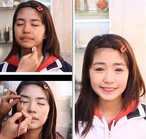 Hot girl Việt khác lạ với mặt mộc - 12